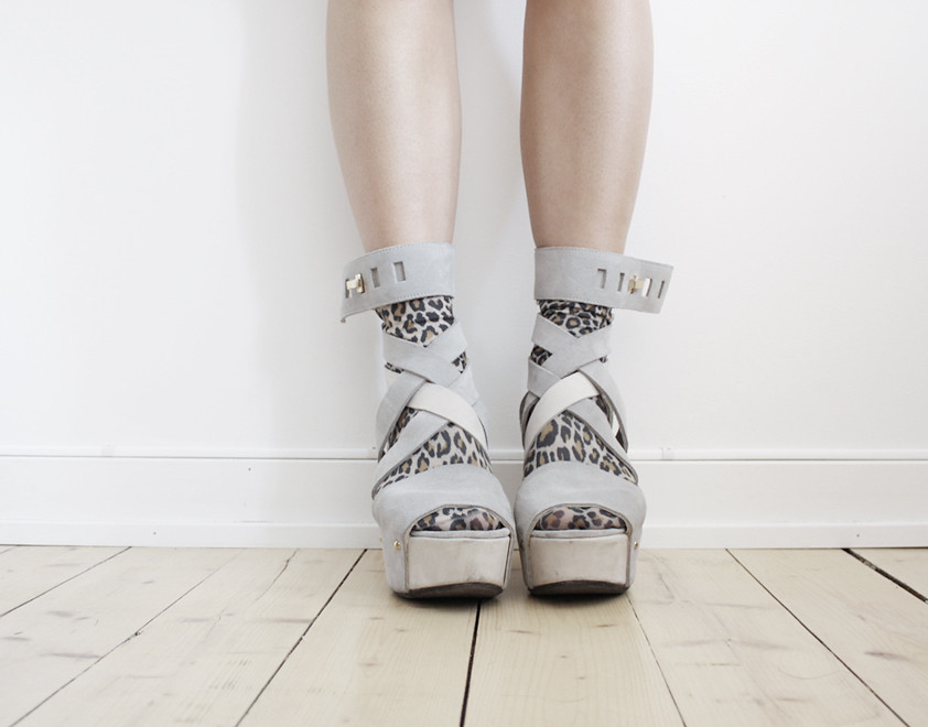 vanillascented leopard socks