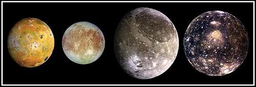 Lunas galileas de Júpiter