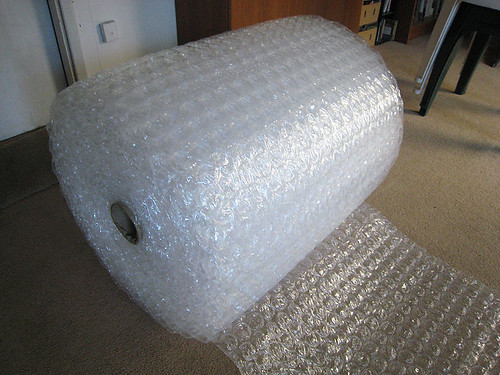 Bubblewrap for insulation