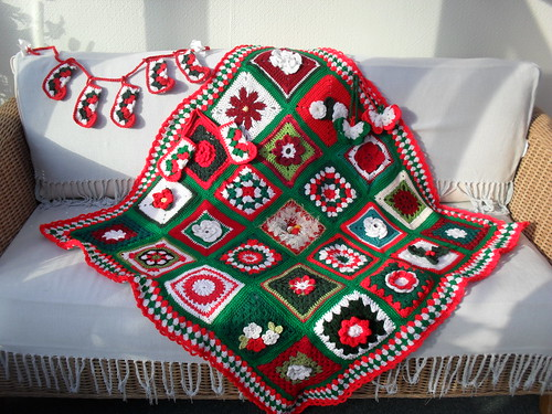 Thank you to all the Ladies who have contributed Squares for our first Christmas Blanket! I am so grateful!......