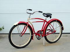 48Schwinn1 (centerprairie) Tags: red 1948 2004 bicycle illinois 24 schwinn balloontire