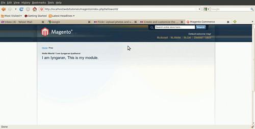 "Customizing Magento - Custom Module ""HelloWorld"""