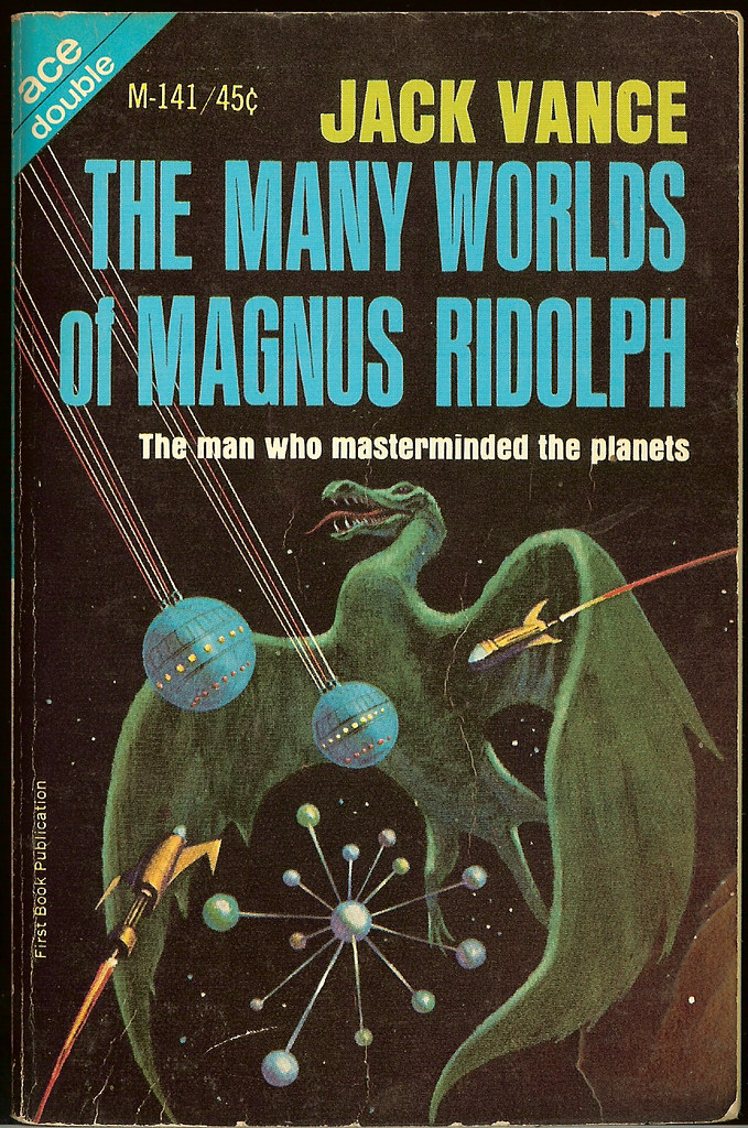 Jack Gaughan - Cover Illustration for Jack Vance - Many Worlds of Magnus Ridolph, 1966