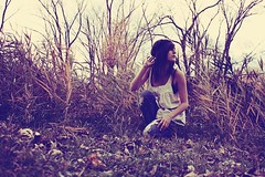 the call (londonscene) Tags: white nature girl field tone