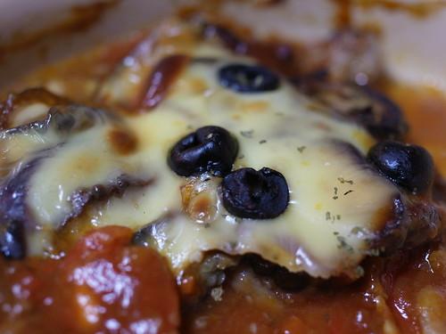なすとトマトのチーズグラタン