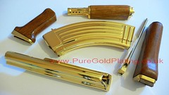 Gold Plated AK-47 Parts (PureGoldPlating) Tags: goldplating goldplatedgun goldplatedak47