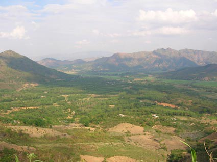 The Dien Bien Phu valley, Vietnam
