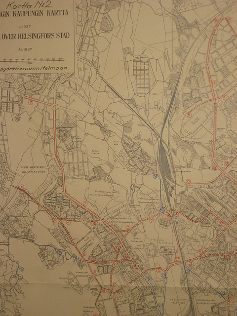 Helsinki Bicycle Infrastructure Network 1937