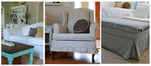 Slipcovers by Pink and Polka Dot
