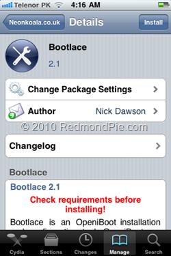 Hướng dẫn cài đặt Android 2.2.1 Froyo trên iPhone 2G/3G