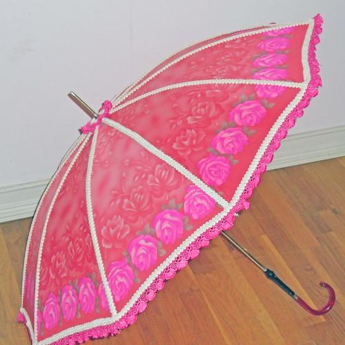 Pink flower parasol