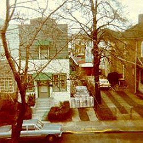 East 5th Street, photographed from the attic of 1367