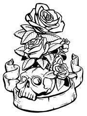 527952718_46776be781_m.jpg (180×240) | colouring sheets ... - Coloring Pages Roses Skulls