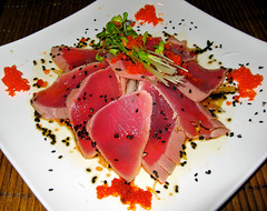Maguro Tataki Sashimi (Bill Adams) Tags: hawaii sashimi explore japanesefood bigisland kohalacoast fairmontorchidresorthotel sushied magurotataki noriosjapaneserestaurantsushibar