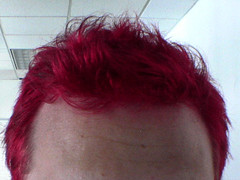 I got my hair cut and dyed last night. Oh yes.. it is red.<br /><br />A little lighter than I planned, but awesome and cool still. I may get it touched up in a week or so to darken it a little.