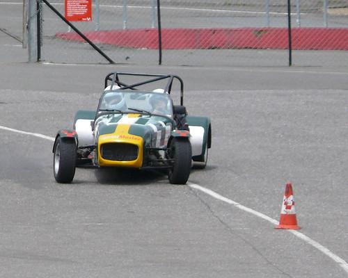 Strange car drifting in race