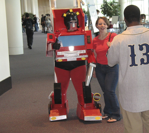 Botcon - Day 3 - Chick dressed up in Inferno costume