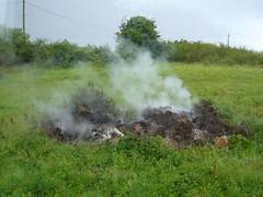 Peat Fire (The Buzzard) Tags: ireland vacation theburren peat