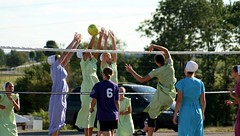 Amish Volleyball Tournament (teacherholly) Tags: ohio color sports teenagers amish volleyball mthope amishcountry holmescounty ohiosamishcountry