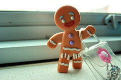gingy...goes shopping?? (vnysia) Tags: toy mcdonalds happymeal gingerbreadman gingy canoneos400d canondigitalrebelxti colourartaward