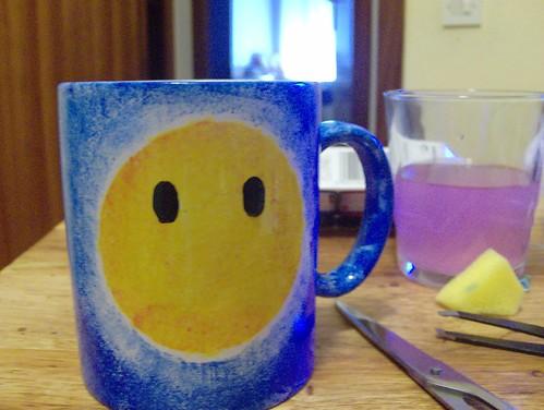 pintar detalles sonrisa