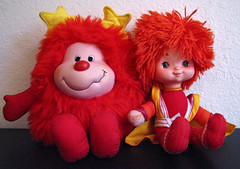 Red Butler & Romeo Sprite (sciencensorcery) Tags: toys dolls sprite plush 80s eighties rainbowbrite