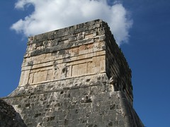 Ballcourt temple (Jason-Morrison) Tags: trip vacation mexico temple ruins honeymoon yucatan chichenitza mayan chichnitz ballcourt templeofthejaguar