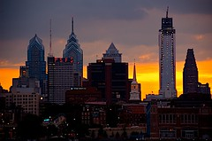 Philly Skyline (podolux) Tags: sunset building philadelphia skyline architecture buildings evening nikon pennsylvania centercity pa philly nikkor 18200 cityskyline mycity phila comcastcenter cityofbrotherlylove centercityphiladelphia d80 assignment5 cityofphiladelphia sharedurbanspace