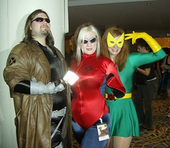 Gambit, Rogue, Marvel Girl (BelleChere) Tags: xmen rogue gambit dragoncon jeangrey marvelgirl dragoncon2007