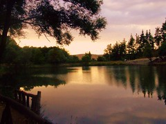 Sunset On A Lake... (_My Hero Is Gone_) Tags: wood lake lago bosco allyouneedislove palazzosangervasio