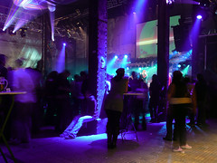 Jazzwerkstatt (b_highdi) Tags: vienna wien blue party night lights austria colours nacht blau fest lichter farben earthnight 30jahre bhighdi ottakringerbrauerei falterfest