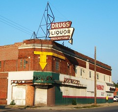 Abandoned Checkers Drug Store on Fenkel in Detroit (DetroitDerek Photography ( ALL RIGHTS RESERVED )) Tags: red summer urban favorite usa color brick abandoned store cool closed fuji decay michigan empty urbandecay detroit ruin vacant hoxton drug arrow checkers amateur amateurs globalvillage 2007 aplusphoto aclassphoto amateurshighfive fenkel flickrphotoaward excapture