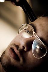 SIMPLY BEN (grazie benny) (Riccardo Failla) Tags: portrait face canon eos 350d europa italia milano ritratto viso pistola primopiano rayban occhiali volto