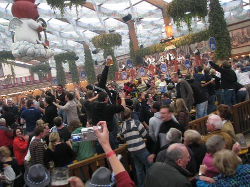 The Hofbräu tent seats 7000 people