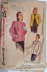 Vintage Simplicity Pattern 1219 Womens 40's Coat, Overcoat, Jacket, Size 16, Bust 34, Waist 28, Hip 37 (Sassy By Design) Tags: she vintage flickr pattern sewing coat international jacket cast etsy 40s overcoat size16 bust34 sassybydesign simplicity1219 waist28hip37