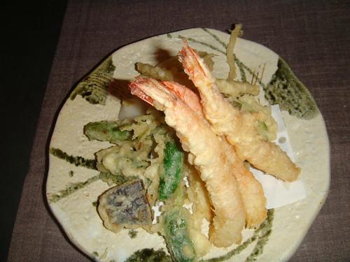 Tempura de verduras y langostinos - Moriawase