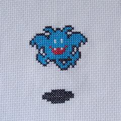 Drakee (benjibot) Tags: crossstitch crafts videogames crop nes dragonwarrior reshoot
