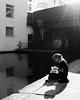Lunch break (Ian Brumpton) Tags: street blackandwhite bw london monochrome solitude noiretblanc camdenmarket streetphotography londres shadowplay biancoenero dreamcatcher londonstreetphotography lunchforone scattidistrada blackwhiteheartbeats
