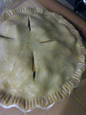Apple Pie, right before I let it chill in the freezer for the night...