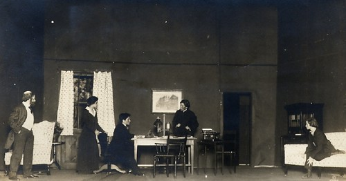 Millay, on the far right, performing in a student production at Vassar