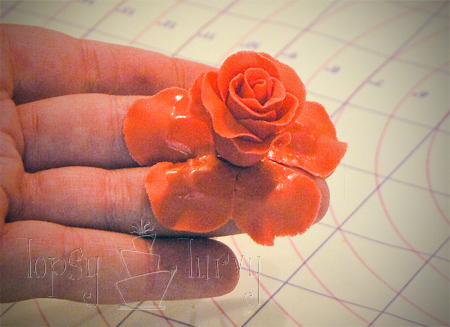 fondant rose tutorial petal layer 3 attaching