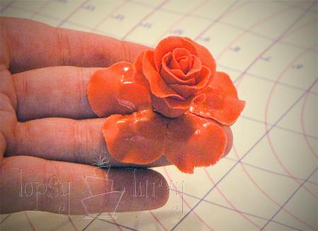fondant rose tutorial petal layer 3 attaching