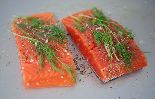 Slow Roasted Salmon with Dill
