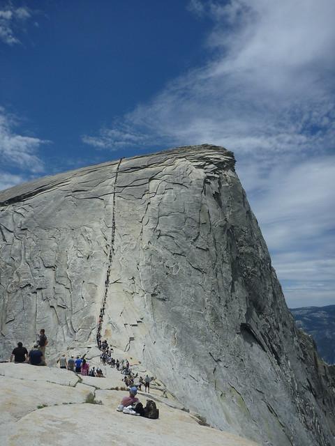 Climbing Half Dome June 24, 2010