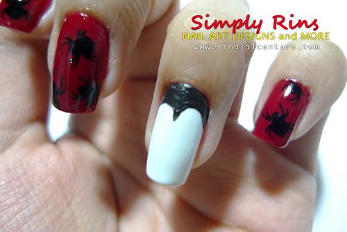 Nail Art Halloween Dracula Bit My Nail 05