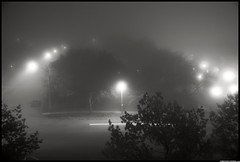 A Foggy Evening In Meadowvale (Christian Stepien.com) Tags: street autumn ontario canada fall fog night project nikon october christian suburbs mississauga 2010 dagobah meadowvale stepien d40x