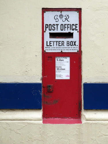 unusual letter boxes. Letter box at Upton Upon