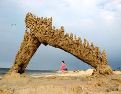 crane's beach #13 (sandcastlematt) Tags: sculpture castle beach sand seagull massachusetts sandcastle sandsculpture ipswich cranebeach cranesbeach bostonist dripcastle blueribbonwinner universalhub dripsculpture theunforgetablepictures