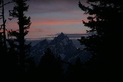 Grand Teton after sunset (fly by night) Tags: sunset mountains grandtetons tetons