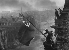 April 30, 1945: End of World War II in Europe (WorldofArun) Tags: world berlin history 30 century army war moments destruction flag wwii victory communism reichstag worldwarii ii soviet planet april change capitalism 1945 allemagne 20th socialism enemies ideology empires raising defining secondeguerremondiale drapeaurouge yenumula worldofarun april301945 arunyenumula